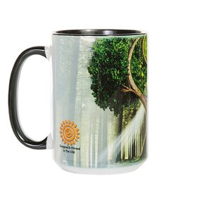 Originelle Tasse mit dem Motiv Yin Yang Baum