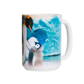 Căni originale cu motiv Pinguini pe ghețar