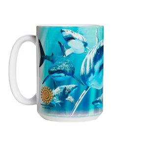 Originelle Tasse mit dem Motiv Attackierende Haie