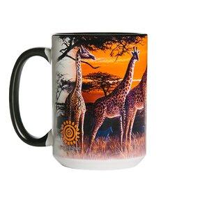 Originálny hrnček s motívom Žirafy v savane