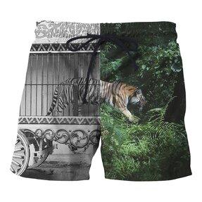 Pánské plavkové šortky Tygří klec