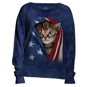 Niebieska bluza damska Amerykański kot Kitty
