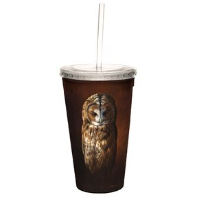 Cup with Straw - Tawny Owl