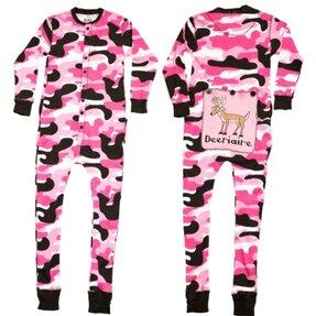 Rózsaszín terepmintás kezeslábas pizsama  129d0849be