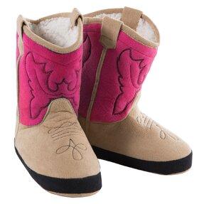 Ružové semišové kovbojské čižmy