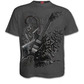 Grey T-shirt Rock Guitar