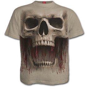 Béžové tričko Výkrik smrti
