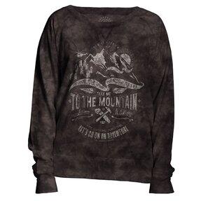 Damen Sweatshirt Grau Abenteuer