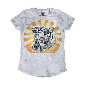 Damen Tri-Blend T-Shirt Weiße Tiger