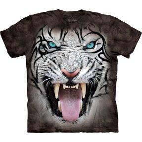 Černé tričko s krátkým rukávem Bílý tygr