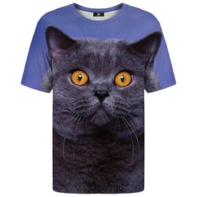 T-shirt with Short Sleeve British Cat
