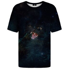 Rövid ujjú póló Vad galaktikus macska