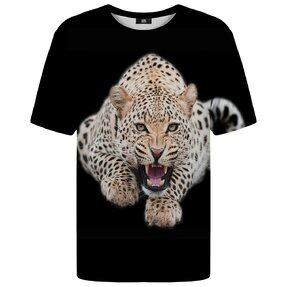 T-shirt with Short Sleeve Leopard