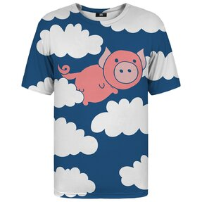 T-shirt with Short Sleeve Flying Pig