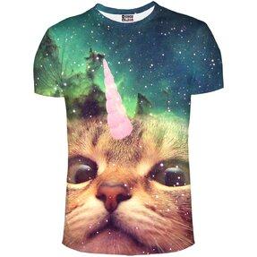 Rövid ujjú póló Egyszarvú macska