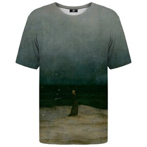 T-Shirt Kurzarm Mönch am Meer
