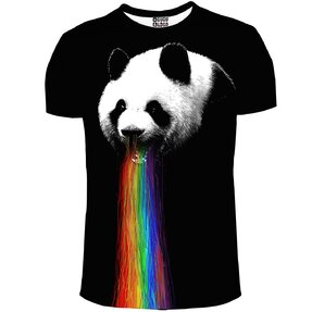 T-shirt Panda and Rainbow