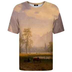 Tričko s krátkým rukávem Pohled na Yosemitské údolí
