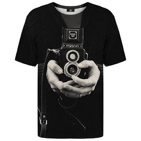 T-shirt with Short Sleeve Retro Camera