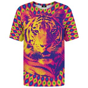 T-shirt with Short Sleeve Crazy Tiger
