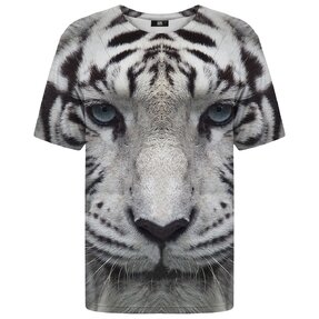 T-shirt with Short Sleeve White Tiger
