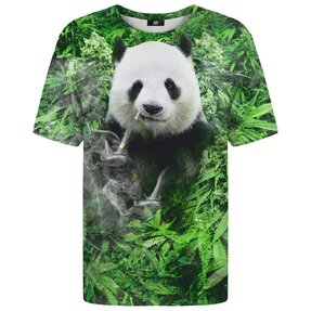 T-shirt with Short Sleeve Smiling Panda