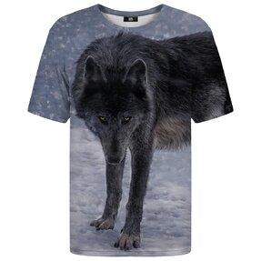 Tričko s krátkym rukávom Vlk čierny