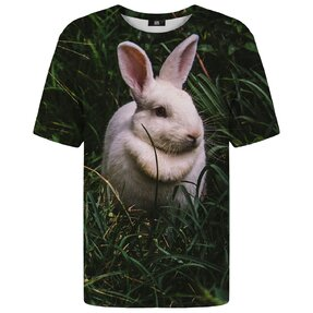 T-shirt with Short Sleeve Rabbit in Grass