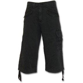 Pantaloni trei sferturi bărbaţi cu motiv Neagră