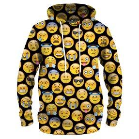 Vtipná mikina s kapucí Emoji