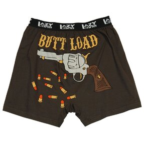 Funny Men's Boxers Loaded Gun
