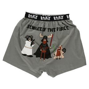 Funny Men's Boxers Beware of the Force