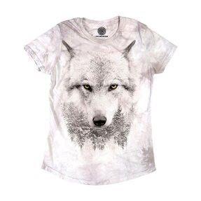 Ladies' Tri-blend T-shirt Glance of Snow Wolf
