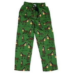 Zelené pyžamové nohavice Ospalý somár