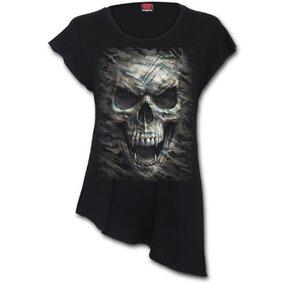 Dámske predĺžené tričko Upíria lebka