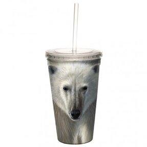 Kelímek s brčkem - Lední medvěd