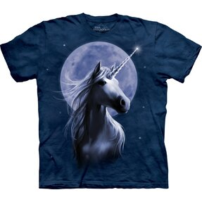 Kids' T-shirt with Short Sleeve Moonlit Unicorn