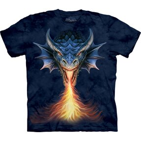 Kids' T-shirt with Short Sleeve Furious Dragon