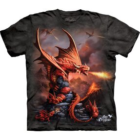 Kids' T-shirt with Short Sleeve Attack of Dragons
