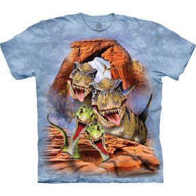 Kids' T-shirt with Short Sleeve Dino Selfie