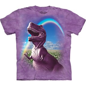 Kids' T-shirt with Short Sleeve T-Rex on Meadow