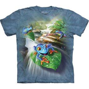 Kinder T-Shirt Kurzarm Blaue Frösche
