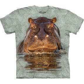 Kids' T-shirt with Short Sleeve Hippo