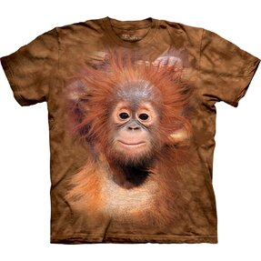 Kids' T-shirt with Short Sleeve Baby Orangutan