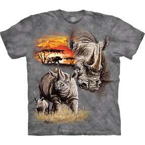 Kids' T-shirt with Short Sleeve Rhinos