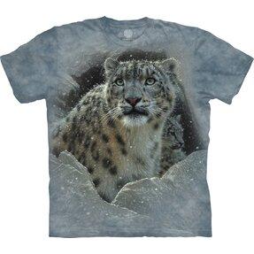 Kinder T-Shirt Kurzarm Schneeleopard