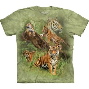 Kids' T-shirt with Short Sleeve Five Tigers