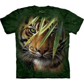 Rövid ujjú gyerek póló Bujdosó tigris