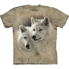 Kids' T-shirt with Short Sleeve Wolf Couple