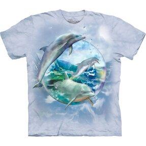 Dětské tričko s krátkým rukávem Delfíni v bublině